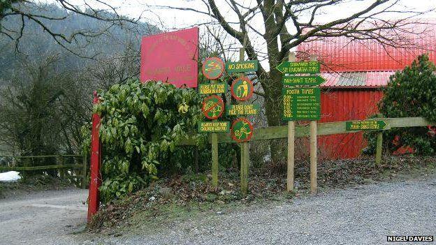 The entrance to Skanda Vale monastery in Carmarthenshire