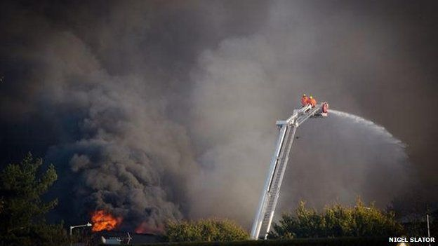 Fire at Lady Lane industrial estate
