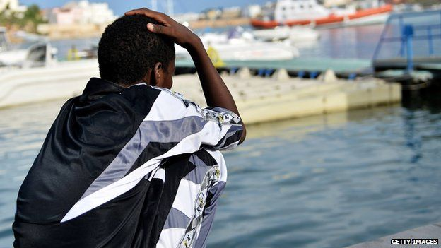 A survivor of the Lampedusa disaster