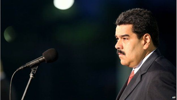 President Nicolas Maduro before his speech at the Fort Tiuna military base in Caracas on 27 October, 2014.
