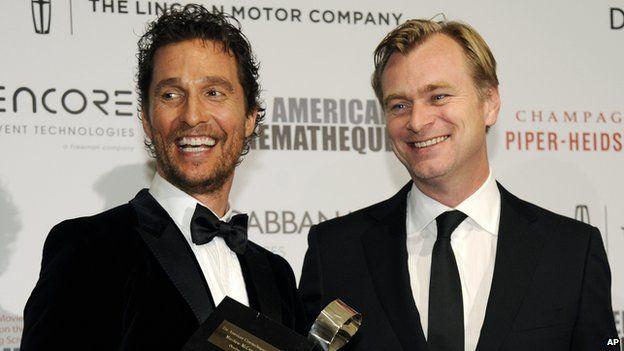 Matthew McConaughey (left) and Christopher Nolan