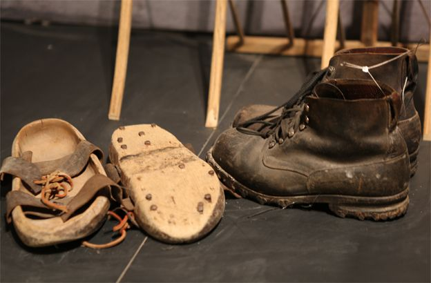 Boots and shoes at the exhibition