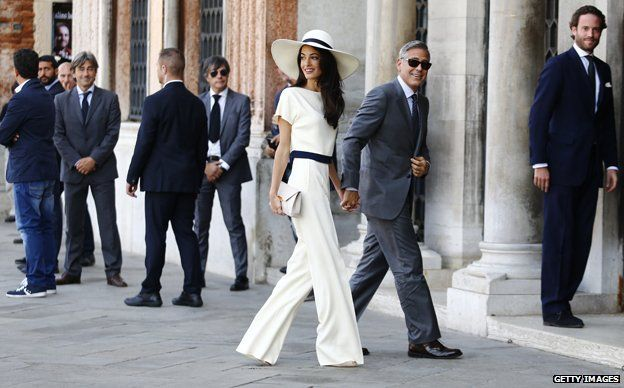 Amal Alamuddin Clooney and George Clooney