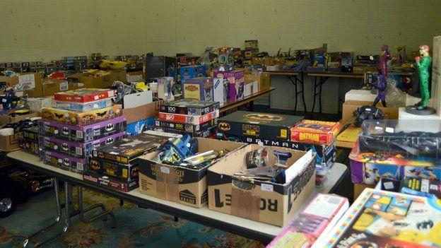 Range of Batman items on the auction table