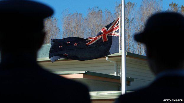 Anzac Day April 2012. Tinui, New Zealand