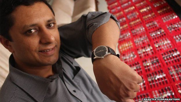 Ithichanda Ponnappa shows off an HMT watch