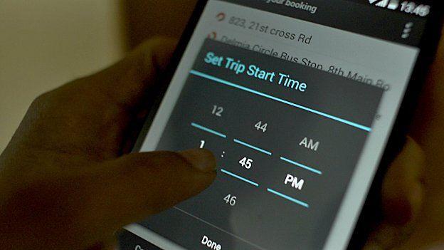 mGaadi app screen