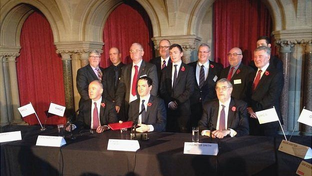 George Osborne and Greater Manchester leaders