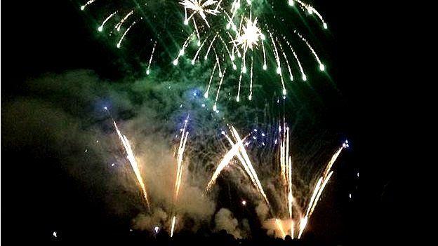 Heaton Park Fireworks, in 2014