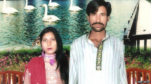 Undated family handout photo showing a Christian couple who were killed by a Muslim mob in Pakistan