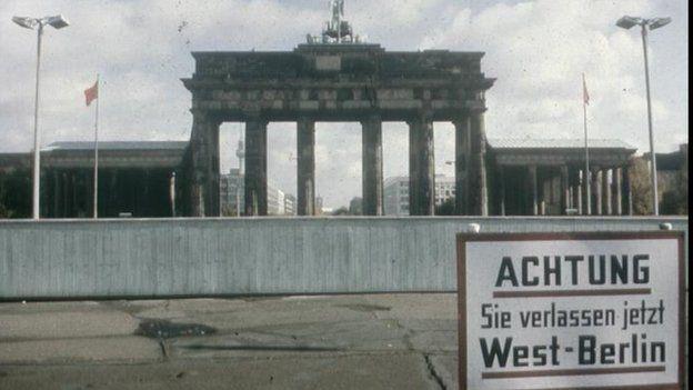 Beyond the wall: the Brandenburg Gate