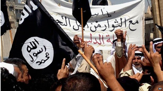 Pro-Islamic State rally in Mosul, Iraq (16/06/14)