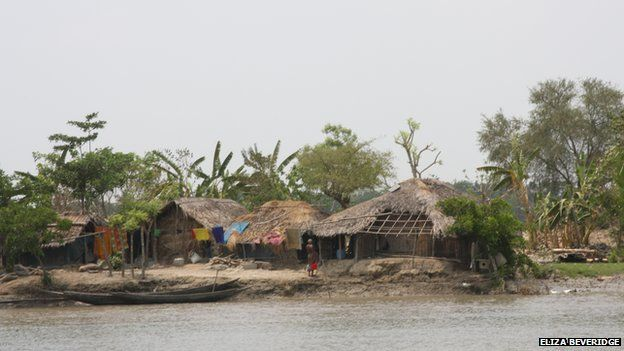 Huts in the area are made with mud, leaves and bamboo