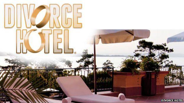 Divorce Hotel website screenshot