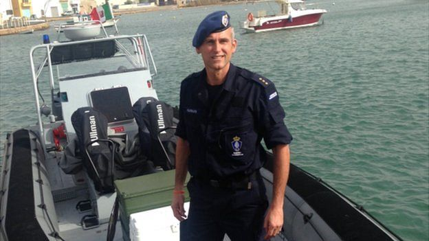 The Dutch Border police who are part of Operation Triton