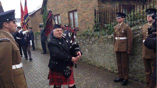 Harold Morgan's funeral