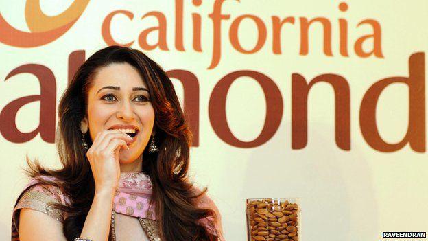 Bollywood actress Karisma Kapoor promoting California almonds in India