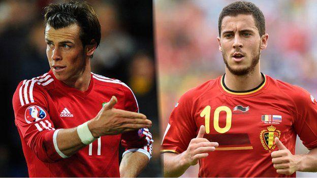 Gareth Bale ac Eden Hazard