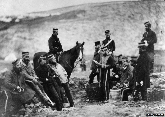 Officers and men of the 8th Hussars, the 'King's Royal Irish' during the Crimean War (1853 - 1856)