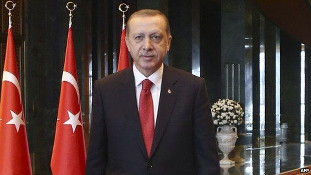 Turkish President Recep Tayyip Erdogan at the presidential palace in Ankara, Turkey on 29 October 2014
