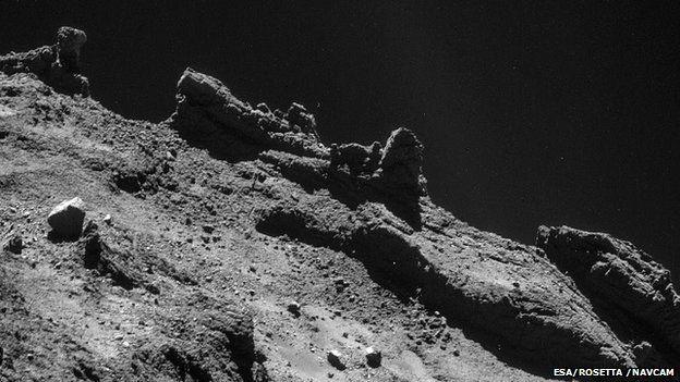 Comet landing: Organic molecules detected by Philae