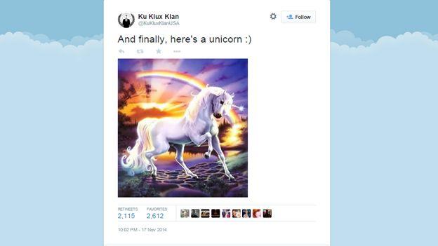 Screenshot of Anonymous-hacked tweet
