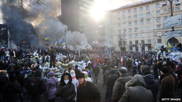 Grushevsky Street in Kiev (Jan 2014 file pic)