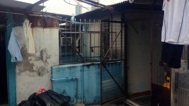 The entry to Mr Chan's rooftop house