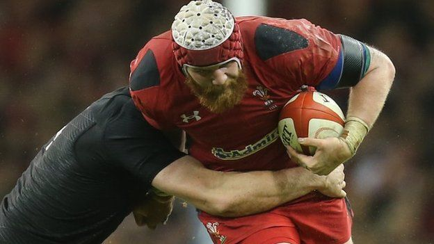 Jake Ball takes on New Zealand