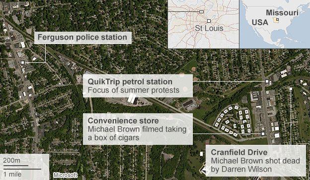 Map of Ferguson
