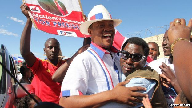 Namibian opposition party Democratic Turnhalle Alliance presidential candidate McHenry Venaani