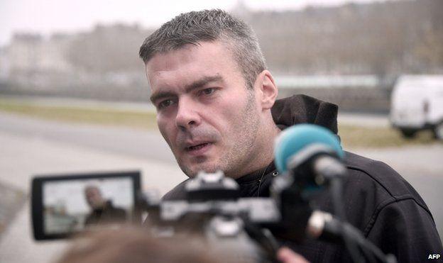 Yoan Delorme talks to reporters (25 Nov)
