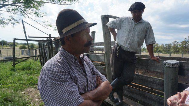 Roque and Lindenberg, two Uruguayan gauchos