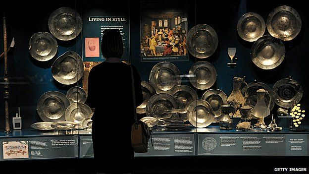 Artefacts on display from the wreck of the Mary Rose