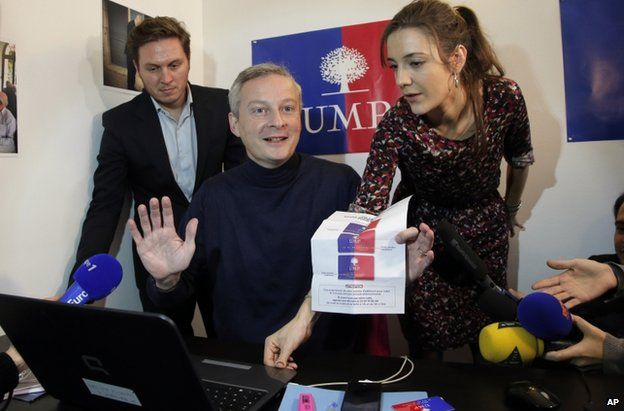 Bruno Le Maire votes in Paris, 29 November
