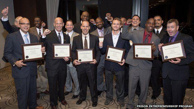 Graduates of the 2014 Prison Entrepreneurship Program receive their certificates