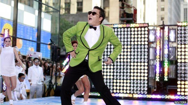 """Korean rapper-singer Psy performs on NBC""""s 'Today show in New York in this 14 September 2012 file photograph."""