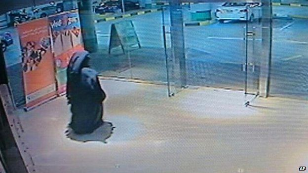 A still image from unspecified video footage, released by police, showing the alleged suspect, 3 December
