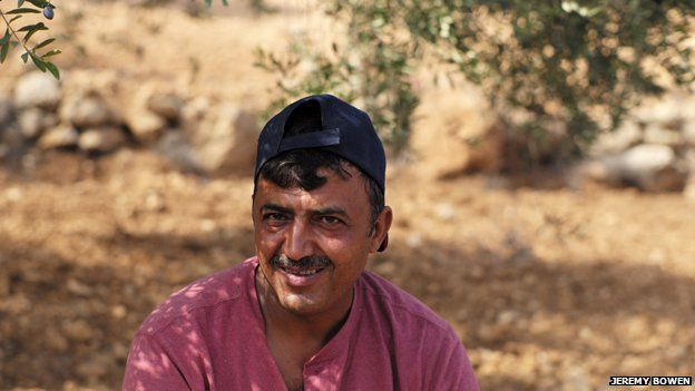 Abdullah Nassan in his olive grove