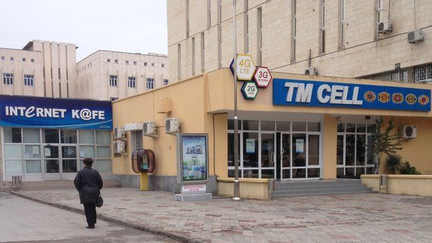Internet cafe in Ashgabat (Nov 2014)