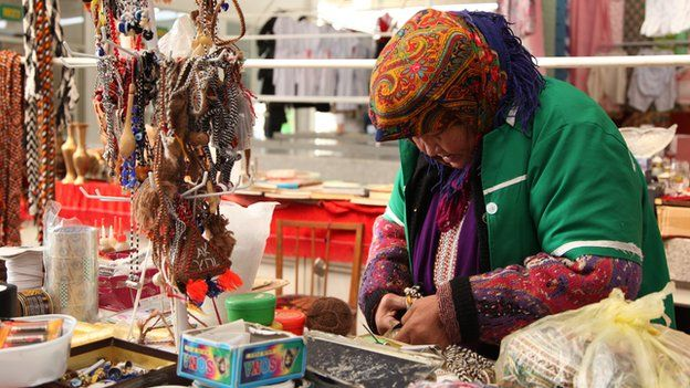 Market stallholder in Ashgabat (Nov 2014)