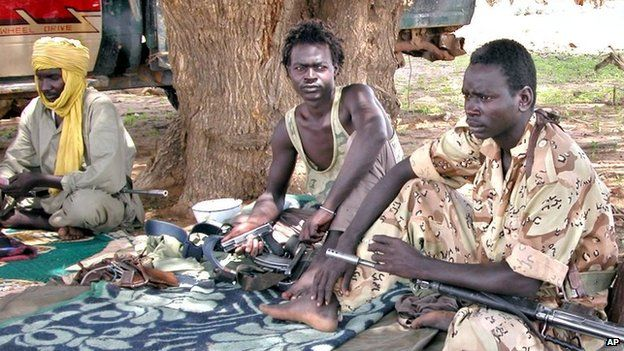 Sudanese Liberation Army (SLA) soldiers in Darfur in 2004