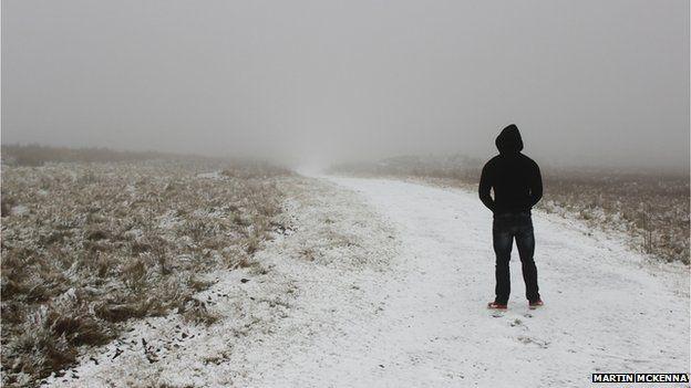 Winter snow in Belfast