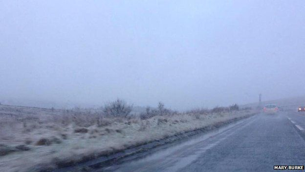 Wintry conditions on the Glenshane Pass