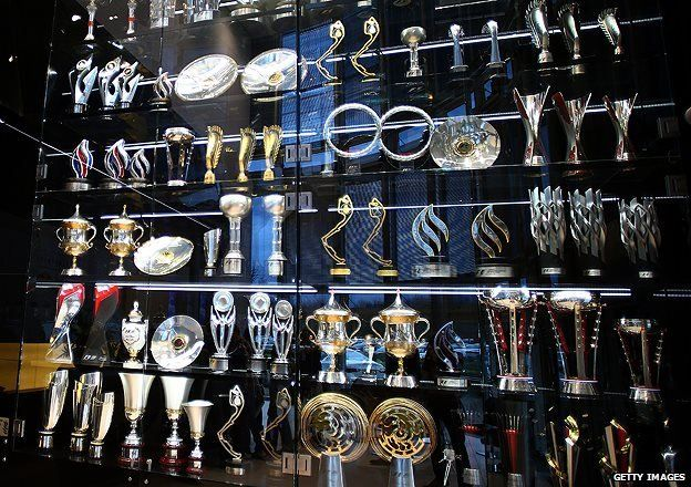 Red Bull Racing trophy cabinet