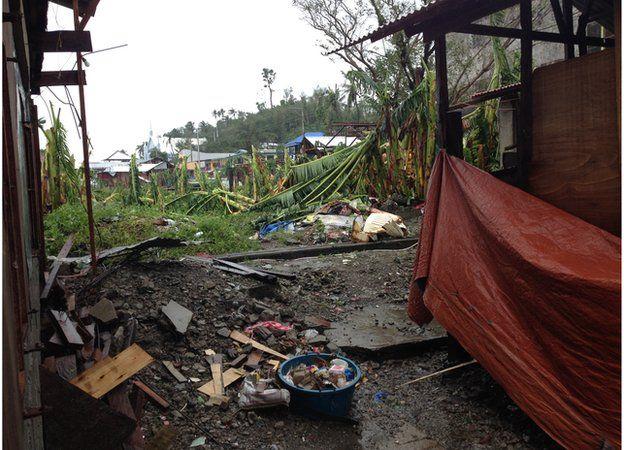 Storm damage in Tacloban