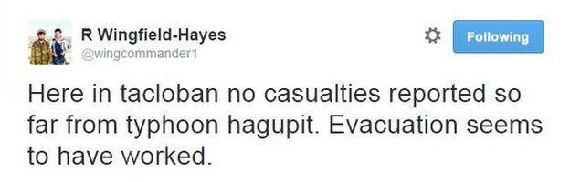 Rupert Wingfield-Hayes tweet