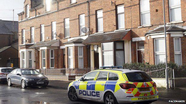 Police at scene of fatal stabbing