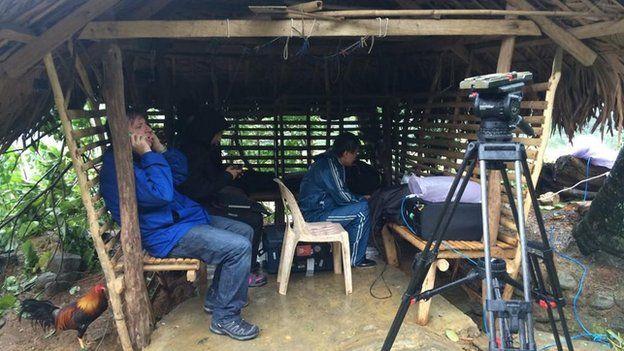 BBC team in village (7 Dec 2014)