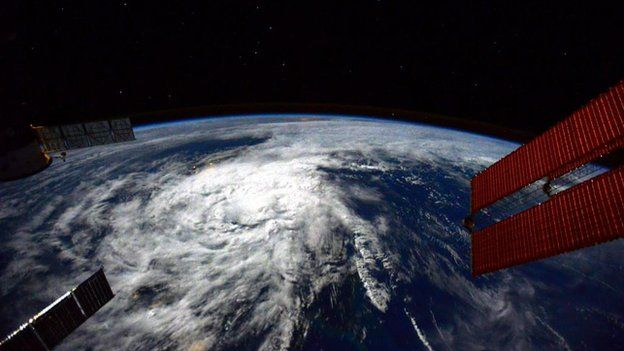 Hagupit, as seen from space